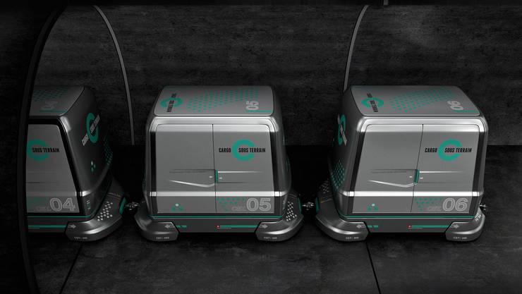Cargo sous terrain sieht vor, dass dereinst Waren rund um die Uhr mittels selbstfahrenden Fahrzeugen unterirdisch befördert werden.
