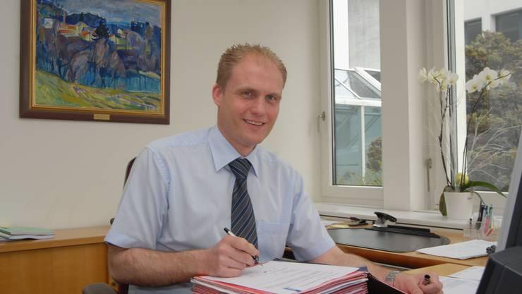 Kabelchef: Gemeindeammann Josef Bütler. (Bild: Walter Schwager)