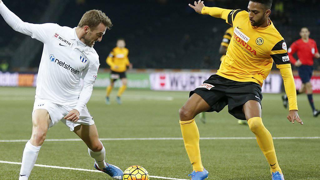 YB-Verteidiger Gregory Wüthrich (rechts) fällt verletzungsbedingt für den Rest der Saison aus
