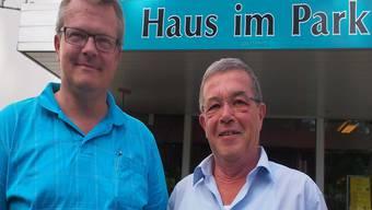 Markus Hunn (links) wird von Ralph Bally eingehend als neuer Heimleiter eingeführt.
