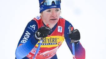 """""""Extrem schade"""": Nadine Fähndrich war im Sprintfinal im Val Müstair bis zur letzten Abfahrt auf Podestkurs, ehe sie stürzte"""