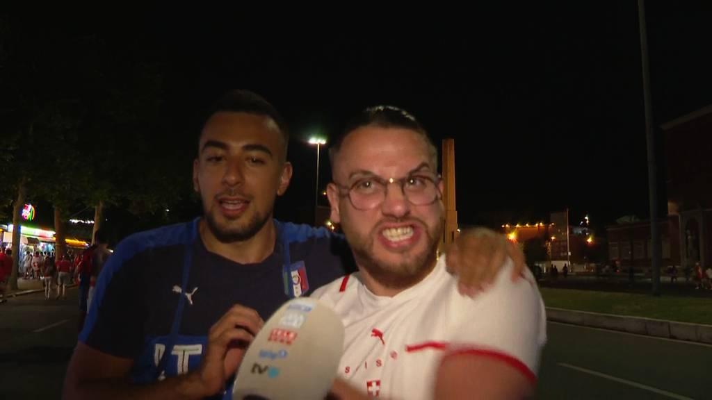 Frust und Jubel bei den Fans in Rom