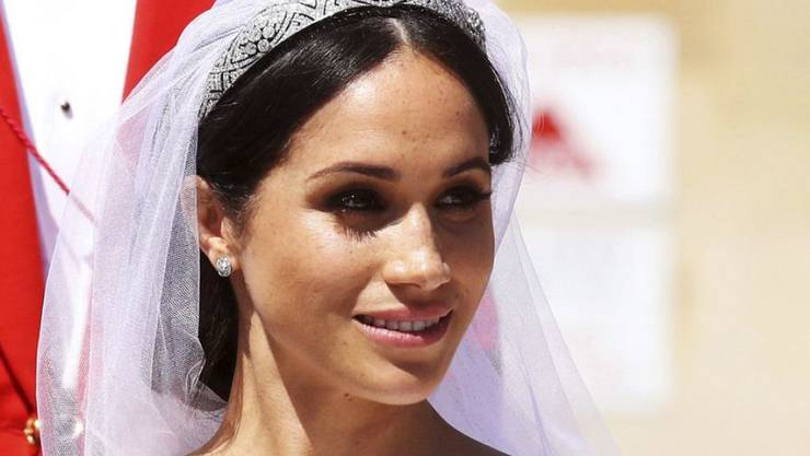 Die Briten sind zufrieden mit ihr: Herzogin Meghan an der Traumhochzeit.
