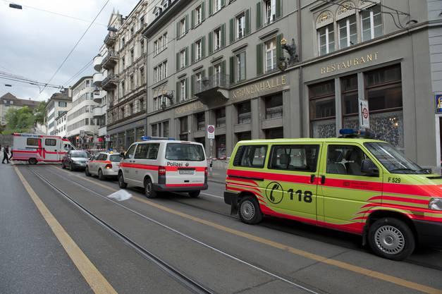 In Zürich wird ein Kind von Tram angefahren