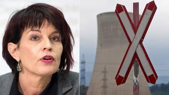 """Doris Leuthard: """"Hinter den Betreibern von Atomkraftwerken stehen die Kantone, und die können ja kaum Konkurs gehen"""""""