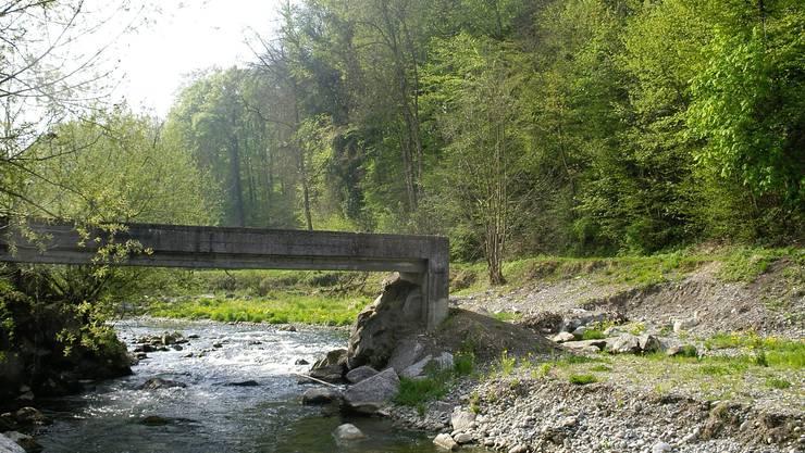 Durch den Bau einer neuen Brücke wären die beiden Dorfteile von Möriken wieder besser verbunden