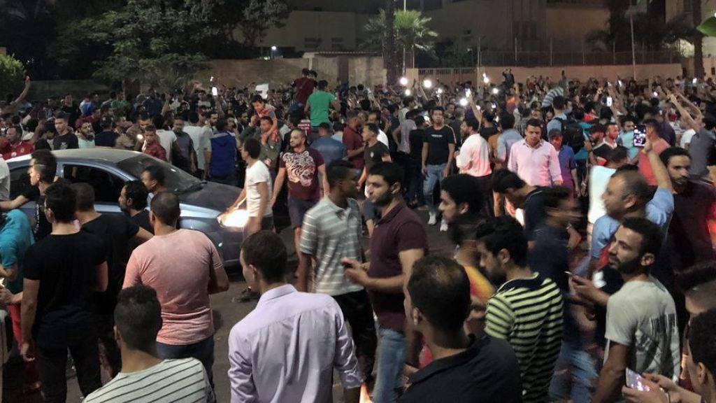 Seltener Protest: Regierungskritiker demonstrieren in Ägypten