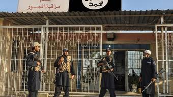 Kontrollposten der Terrormiliz Islamischer Staat (IS) im Irak