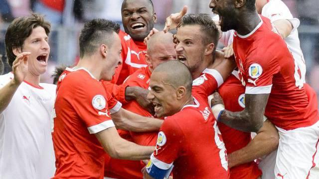 Die Schweiz besiegt Zypern 1:0 und hat nun in der WM-Qualifikation vier Punkte Vorsprung auf den ersten Verfolger. Foto: Key