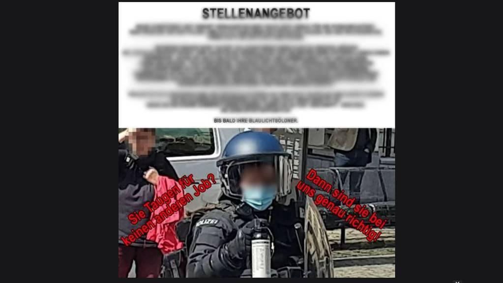Nach der Demo von Altdorf ist eine Polizistin zur Hass-Figur einiger Corona-Skeptiker geworden.