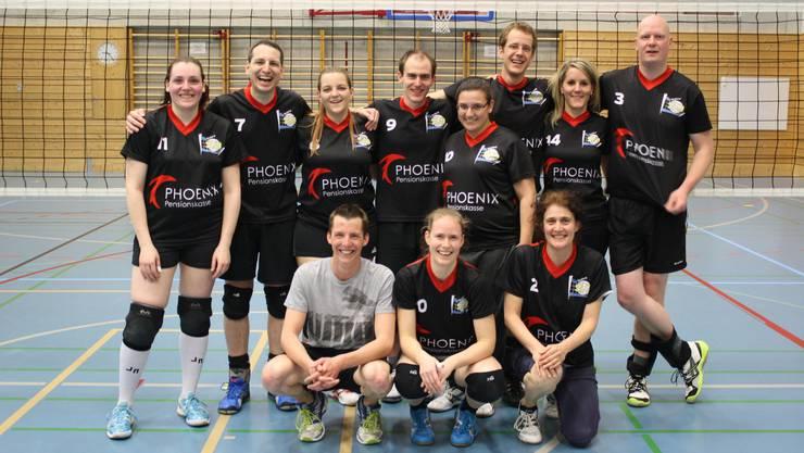Das Mixed Team von Volley S9 steigt auf.