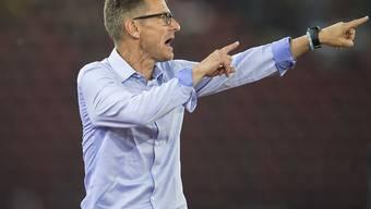 Trainer Urs Meier kommt mit dem Neuling Rapperswil-Jona gut voran