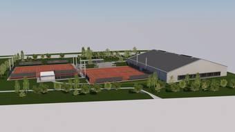 Tennishalle und Aussenplätze werden ab September gebaut.