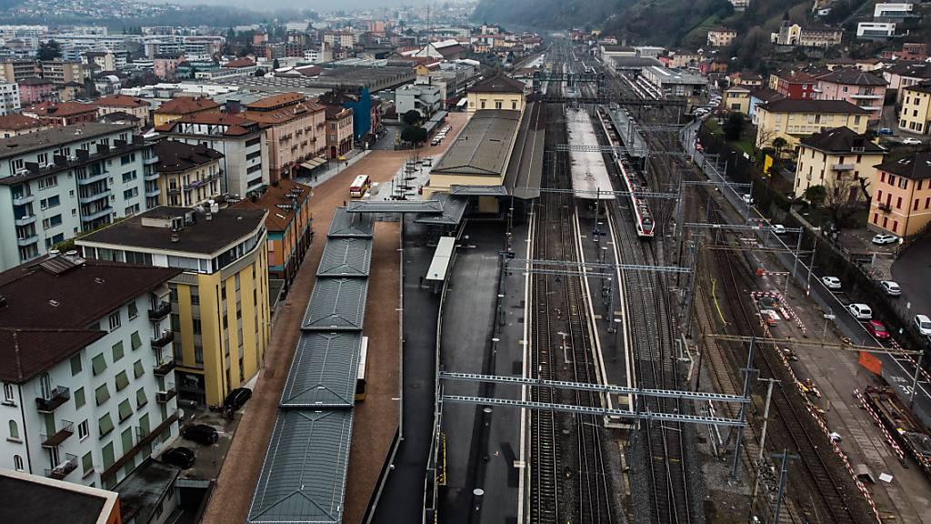 Bahnhof Bellinzona ist bereit für den Ceneri-Basistunnel