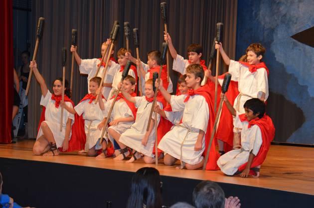 Die Jugi war als Römer-Legion dabei.