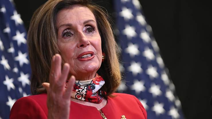 ARCHIV - Nancy Pelosi ist für den Vorsitz des US-Repräsentantenhauses nominiert. Foto: Erin Scott/Pool Reuters/AP/dpa