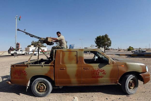 Rebellen kämpfen oft mobil von Geländefahrzeugen aus
