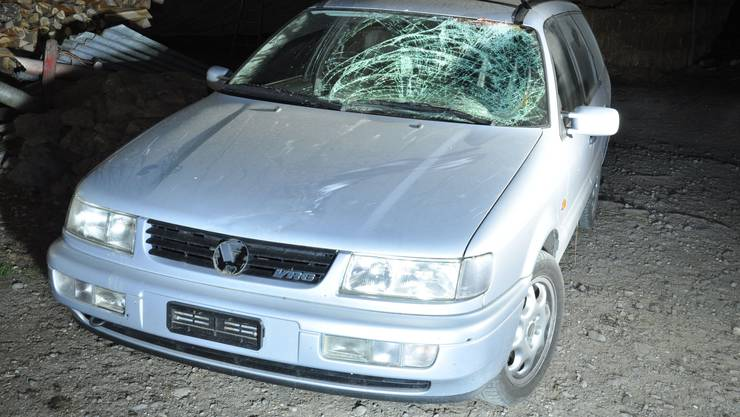 Das Auto des Täters wurde nach dem Unfall in Hallwil gefunden.