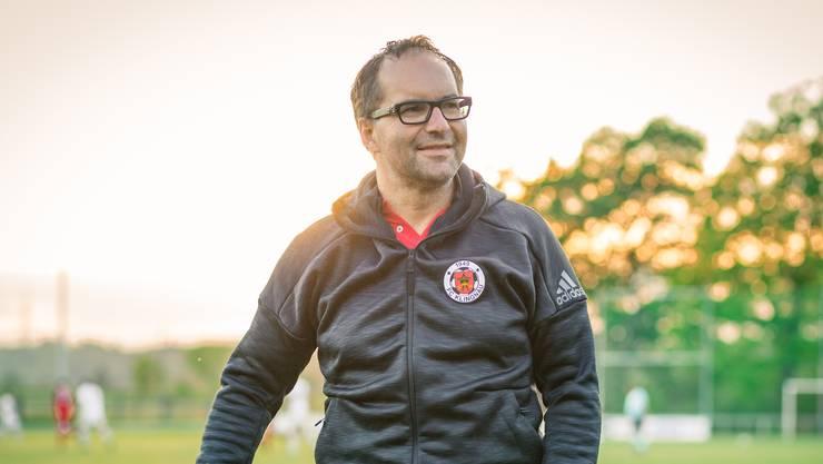 FC Klingnau Präsident Roger Meier anlässlich des Spiels gegen den FC Suhr am 27. April in Klingnau.