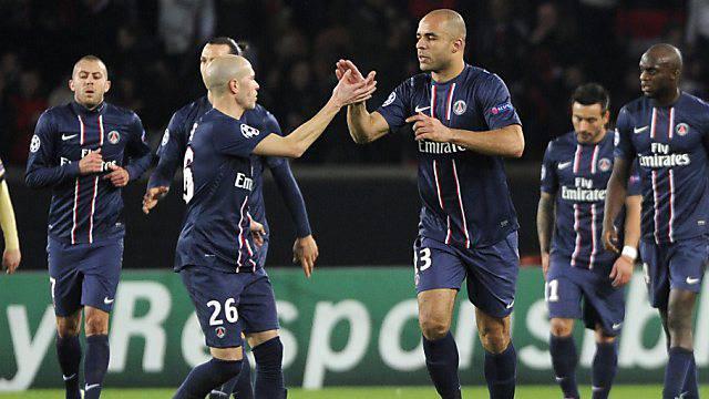 PSG ging gegen Zagreb durch Alex (m.) nach 16 Minuten in Führung.