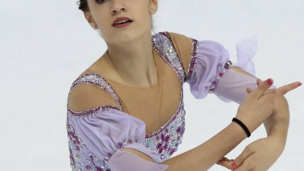 Die 16-jährige Alexia Paganini kürte sich in Neuenburg zur Schweizer Eiskunstlauf-Meisterin