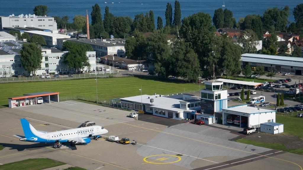 Blick auf den Flugplatz Altenrhein.