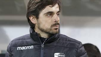 Sions neuer Trainer Ricardo Dionisio kann noch nicht zufrieden sein