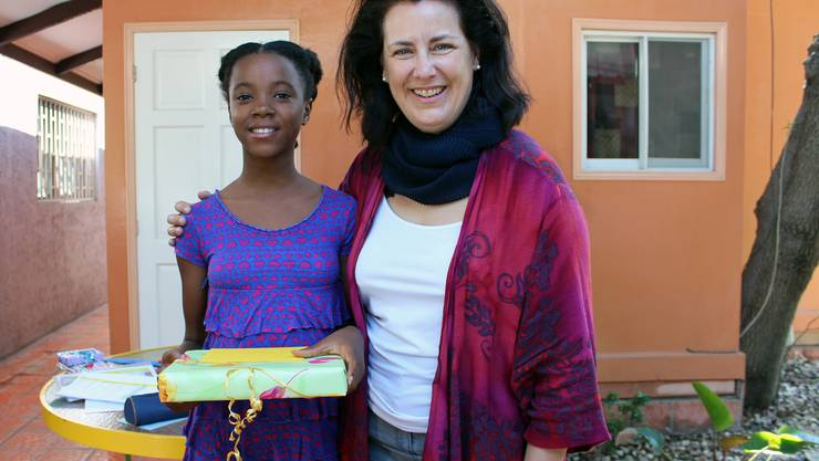 Miranda Bammert-Zahn im Kinderheim auf Haiti.