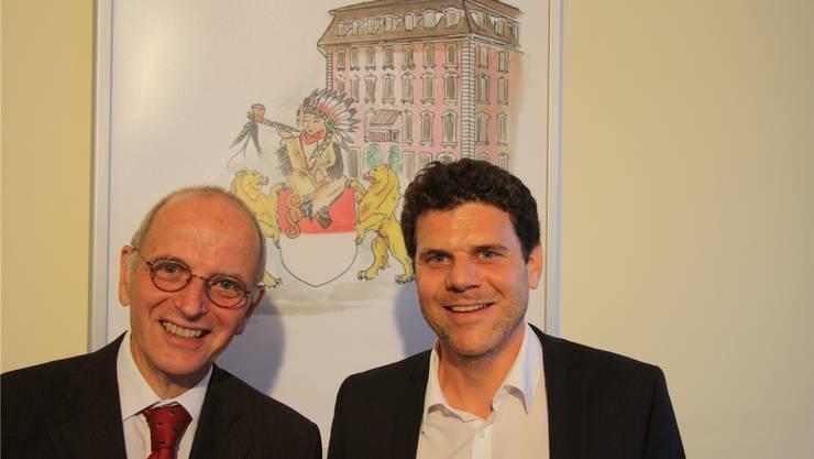 Othmar Schmid und Michel Gerber freuen sich über den Vergleich.