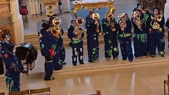 Die Eiker Chinzhaldeschränzer spielten in der Kirche.