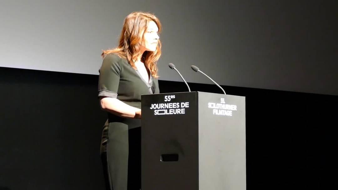 Die erste Eröffnungsrede der neuen Filmtage-Direktorin Anita Hugi