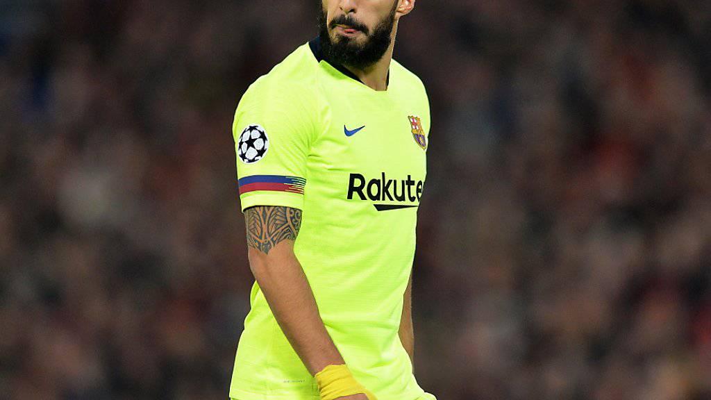 Luis Suarez muss sich einer Knie-Operation unterziehen