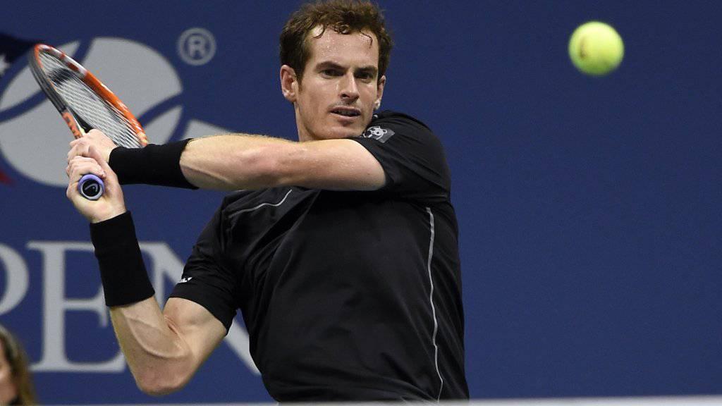 Andy Murray qualifizierte sich für die Achtelfinals ohen Probleme