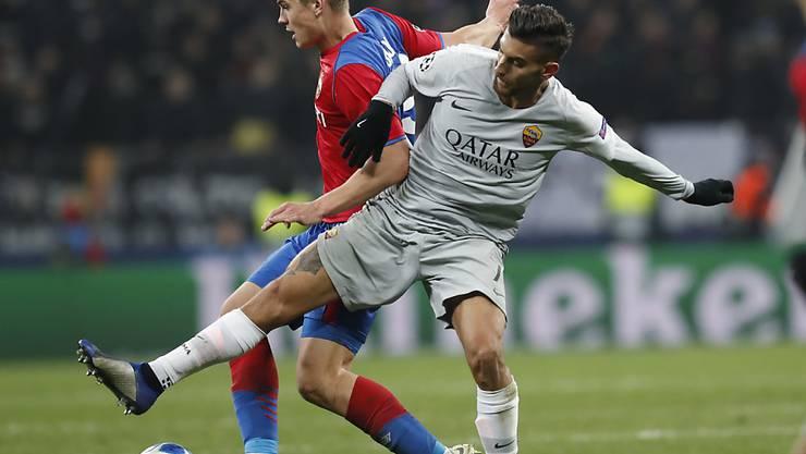 Lorenzo Pellegrini (rechts) gelang nach 59 Minuten das Siegtor für die AS Roma