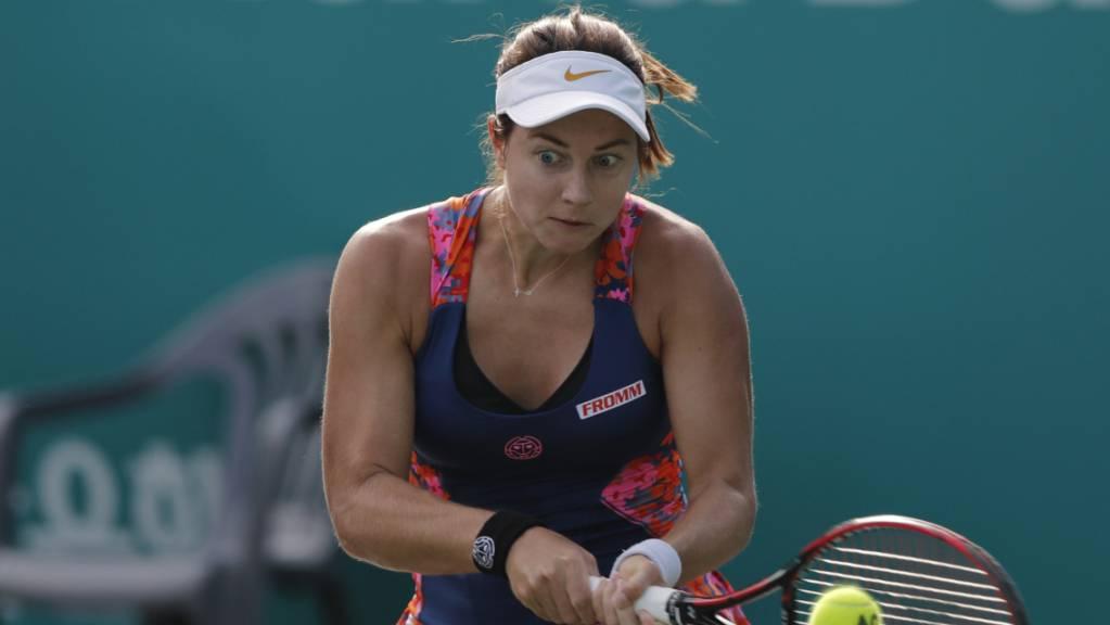 Stefanie Vögele profitierte in der Qualifikation fürs Australian Open von der Aufgabe ihrer Gegnerin