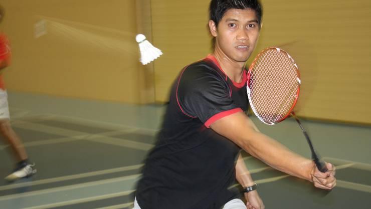 Titon Gustaman liebt den Badminton-Sport