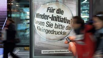 Die CVP Aargau will nichts von der Minder-Initiative wissen. Keystone