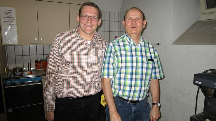 Obmann Hanueli Leemann (r) und Kassier Jacques Grossmann