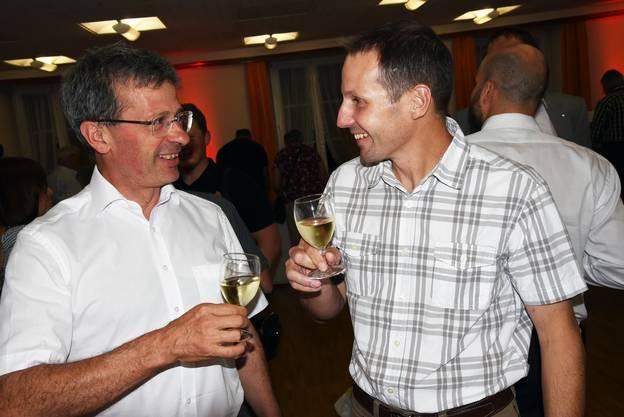 Im Gespräch: Markus Loosli, Gemeindepräsident Herzogenbuchsee, mit Gärtnermeister Manuel Wagner.