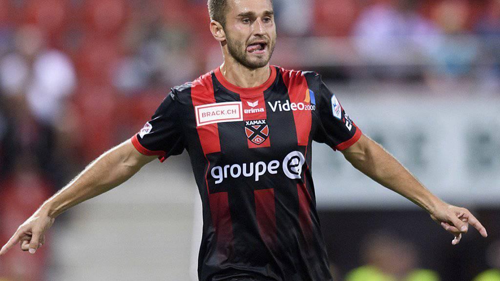 Mustafa Sejmenovic feiert den dritten Treffer seiner Mannschaft