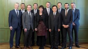 Eine Delegation von Cargo Sous Terrain traf sich am 23. Januar mit Bundesrätin Doris Leuthard.