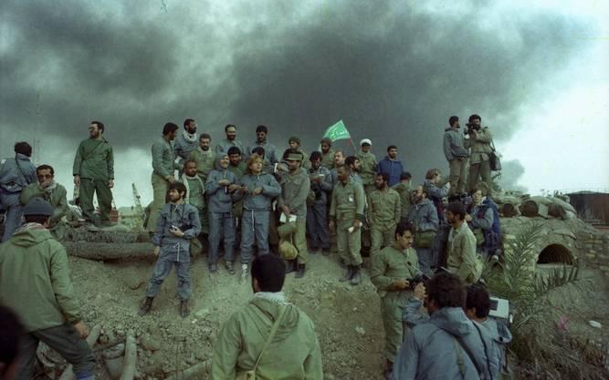 Iranische Soldaten an der Front: 1983 tobte der erste Golfkrieg zwischen Irak und Iran.