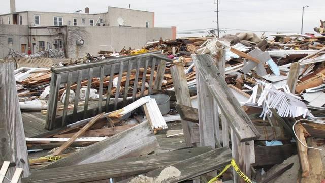 Vom Sturm Sandy angerichtete Spur der Verwüstung in Sea Bright im Bundesstaat New Jersey