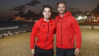 An den Olympischen Spielen in Rio de Janeiro und auch jetzt zusammen: Max Heinzer (links) und Benjamin Steffen fechten an der WM in Leipzig.