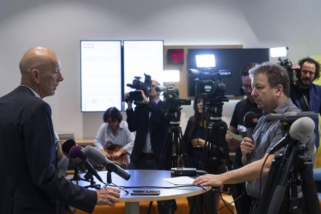 Daniel Koch, hier noch als Delegierter des Bundesamt für Gesundheit, verabschiedet sich von den Medien.