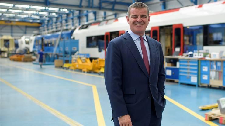 CEO Peter Spuhler nach der Bilanzmedienkonferenz von Stadler Rail.