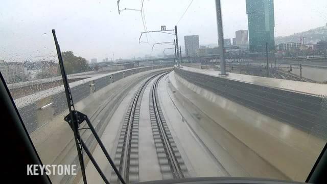 Durchmesserlinie: SBB-Testfahrt über die längste Bahnbrücke der Schweiz