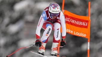 Michelle Gisin unterwegs auf der Abfahrtsstrecke in Lake Louise - das wird es in der kommenden Weltcup-Saison nicht geben