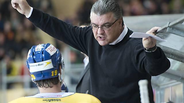 Langenthals Headcoach Olivier Horak nicht zufrieden mit seinem Team