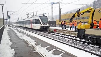 Winterthur-Hegi: Zug erfasst Schneepflug